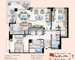 symphony condo fort lauderdale floorplans north tower penthouse levels 19 21