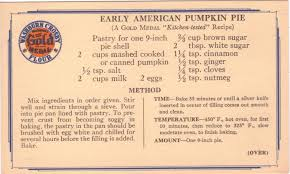 In The Box Thanksgiving Hours The Found Recipe Box Thanksgiving Part I Early American Pumpkin Pie