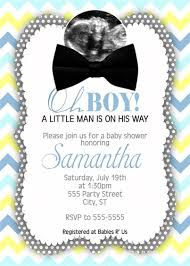 bow tie baby shower blue yellow turquoise bow tie baby shower invitations