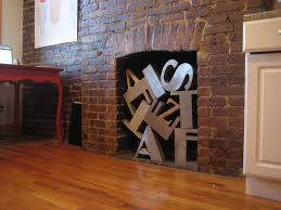 nonworking solution to a non working fireplace old letterforms notable