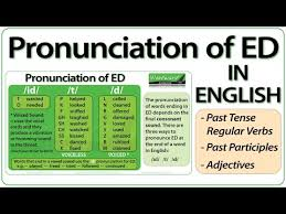 ed pronunciation in english how to pronounce ed endings