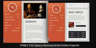 Sample Resume For Musician by 40 Premium And Free Resume Templates Web Design Burn