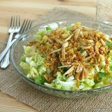 napa salad chinese napa cabbage salad with a crunchy topping the dinner mom