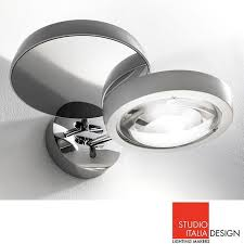 studio italia design nautilus applique led wall l chrome studio italia design