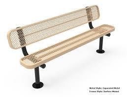 bench thermoplastic benches rhino foot rectangular thermoplastic