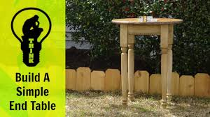 how to build a end table a simple woodworking project youtube