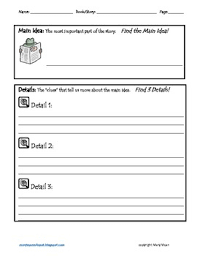 main idea and key details graphic organizer by mary u0027s speech spot
