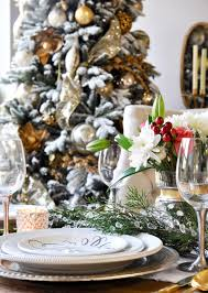 Decorating Dining Table For Christmas With Pictures by A Classic Christmas Holiday Table Holiday Entertaining Blog Tour