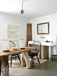 Maine Dining Room Table Is Made From An Ship Door And Wood That Washed Ashore