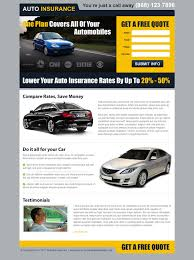 auto insurance landing pages landing page design templates example