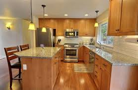 hickory kitchen island craftsman kitchen with simple granite counters kitchen island in