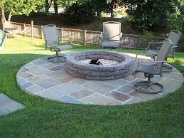 Stone Patio With Fire Pit Furniture U0026 Accessories Redesign Fire Pit Grill Bayville As The