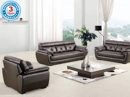 buy antique brown leather 3 2 1 sofa set online in nagpur