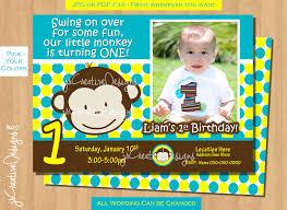 1 year old birthday invitations ideas boy first birthday