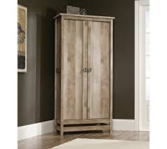 sauder kitchen storage cabinets amazon com sauder cannery bridge storage cabinet lintel oak