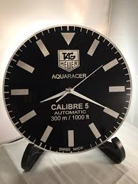 tag heuer aquaracer calibre 5 dial face wall clock wall