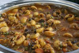 cuisiner la seiche fraiche badjis de pommes de terre curry de seiches et riz au coco