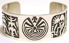 bracelet cuff man silver images Navajo sterling silver man on maze corn kokopelli cuff bracelet jpg