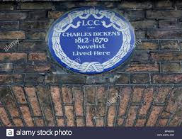 blue plaque on charles dickens u0027 house in doughty street london