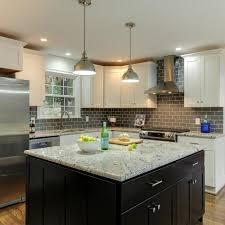black kitchen cabinets with white subway tile backsplash photos hgtv