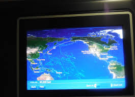 United Route Map United Airlines Business Class Upper Deck 747 400 Tokyo To Chicago