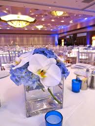 blue centerpieces blue white modern wedding centerpieces in bloomlife in bloom