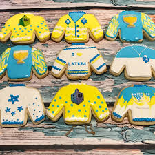 hanukkah cookies hanukkah chanukah sweater cookies mini bites cookies and