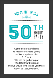 classic 50th birthday party printable invitation template