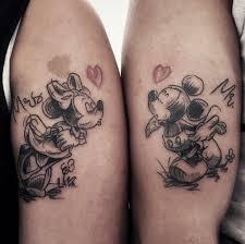 couple tattoo mickey mouse beautiful mickey and minnie mouse disney couple tattoo blurmark