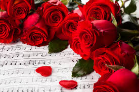 Love Flowers Flower Hearts Valentines Red Rose Day Music Roses Nature Flowers