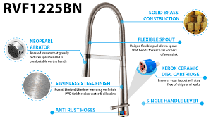 Kitchen Faucet Is Leaking by Ruvati Rvf1225k1bn Pull Down Kitchen Faucet With Soap Dispenser