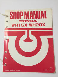 honda wh15x wh20x water pump shop manual u2022 14 95 picclick
