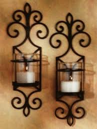 Rustic Candle Sconce Wall Sconces Candles Wrought Iron Foter