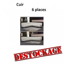 destockage de canapé destockage canapé angle cuir brun 6 places