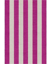 Magenta Area Rug Winter Shopping Special Claussen Stripe Woven Wool Silver