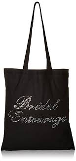 bridal party gift bags black brides entourage luxury rhinestone