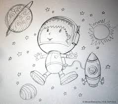 cute astronaut space walking sketch by erikdeprince on deviantart