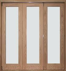Oak Room Divider Derwent Slide Aside Clear Glazed Oak Room Divider 3 Door Set