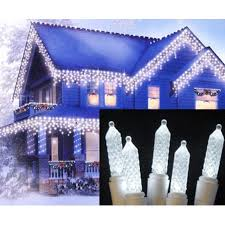 set of 70 pure white led m5 twinkle icicle christmas lights