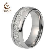 mens comfort fit wedding bands online shop 8mm imitated meteorite tungsten wedding ring domed