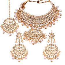 necklace set images images Buy i jewels traditional kundan pearl choker necklace set for jpg
