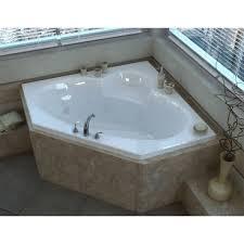 60 x 60 corner air whirlpool jetted bathtub