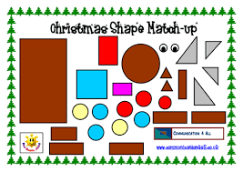 christmas shape picture match up by bevevans22 teaching