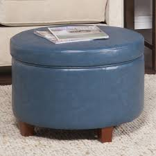 Teal Storage Ottoman Homepop Large Teal Leatherette Storage Ottoman Free Shipping