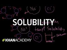 solubility and intermolecular forces video khan academy