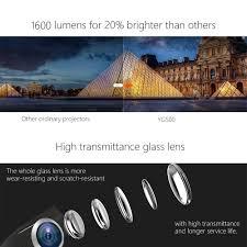 amazon com video projector meer 1600 lumens 130 u0027 u0027 wide screen