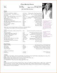 theatrical resume format headshot resume format shalomhouse us