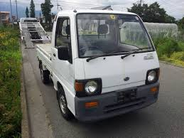 subaru sambar truck roots japan stock