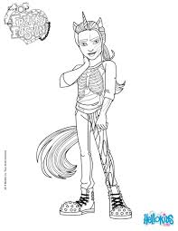 monster high freaky fusion neighthan rot coloring pages