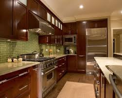 Dark Cherry Cabinets Houzz - Kitchen with cherry cabinets